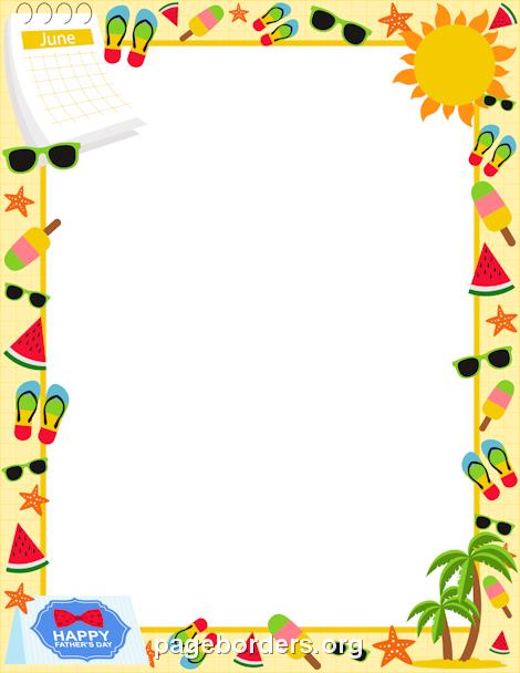 June Border: Clip Art, Page Border, and Vector Graphics ...