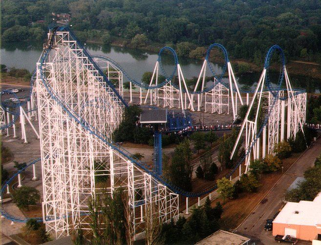 Shockwave Six Flags Great America Gurnee Illinois Usa Roller Coaster Great America Best Amusement Parks