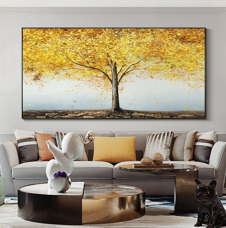 Extra Large Oil Painting Landscape Abstract Tree Painting Original Abstract Painting Custom Oil Painting Original Living Room Painting In 2021 Custom Oil Painting Abstract Tree Painting Abstract Tree
