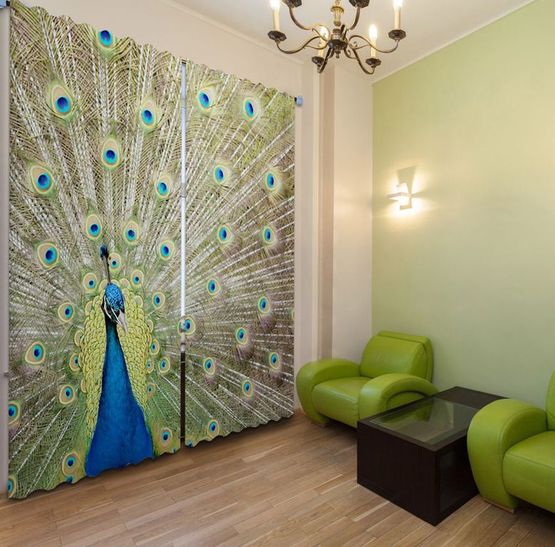 Curtain Classic And Beautiful Peacock Shower Curtain Design from - vorhänge wohnzimmer bilder