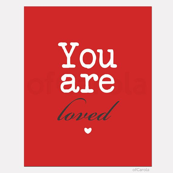 You Are Loved Quote Wall Art Print Custom Christmas by ofCarola, $12.00