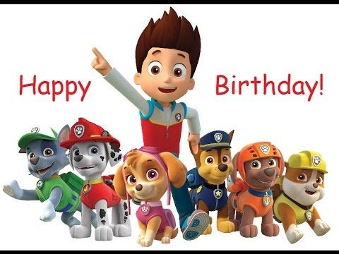 Paw Patrol Characters Ryder Skye Birthday Card A5 Personalised with own words
