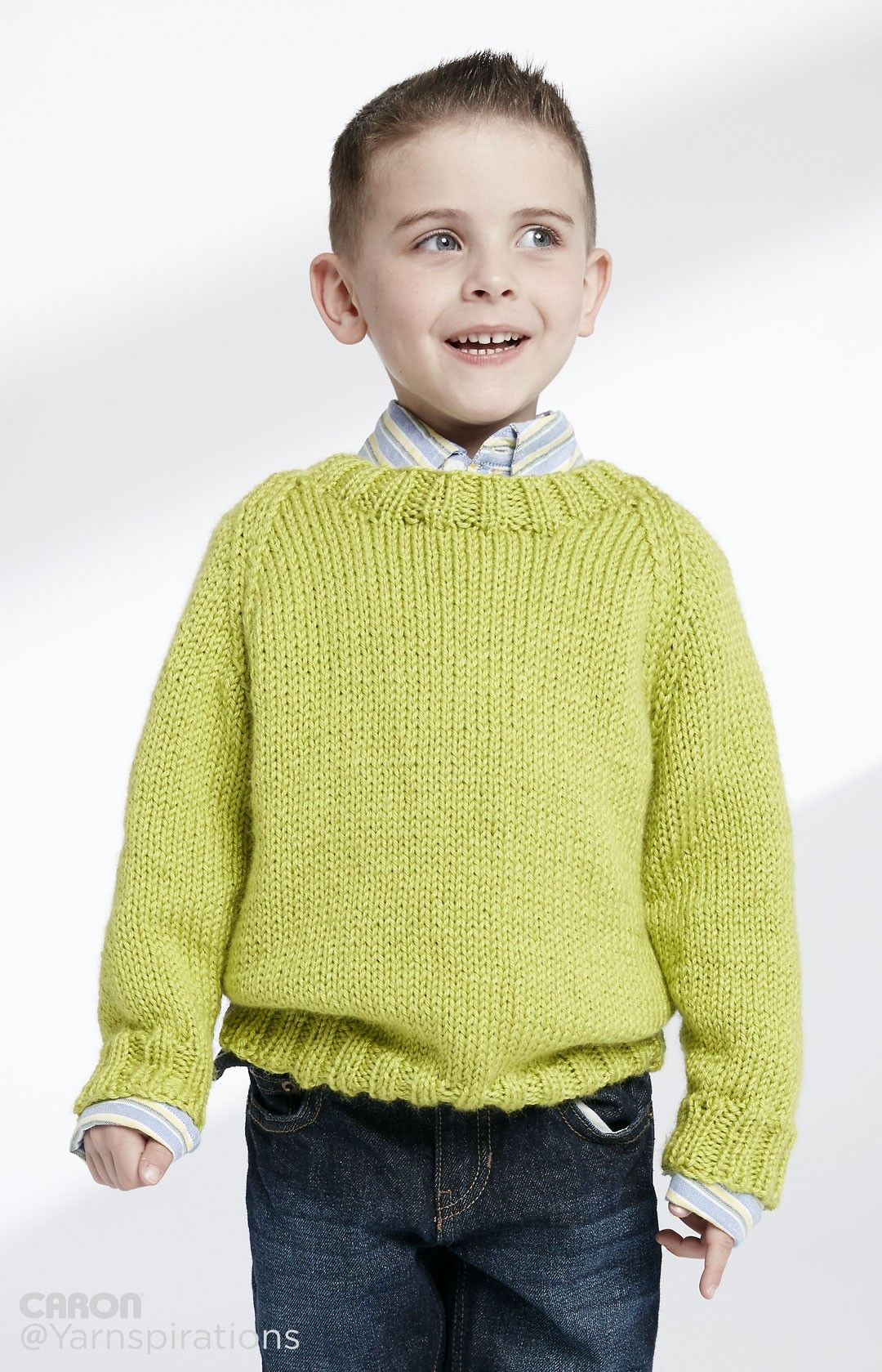 e8877ccde Child s Knit Crew Neck Pullover - Patterns