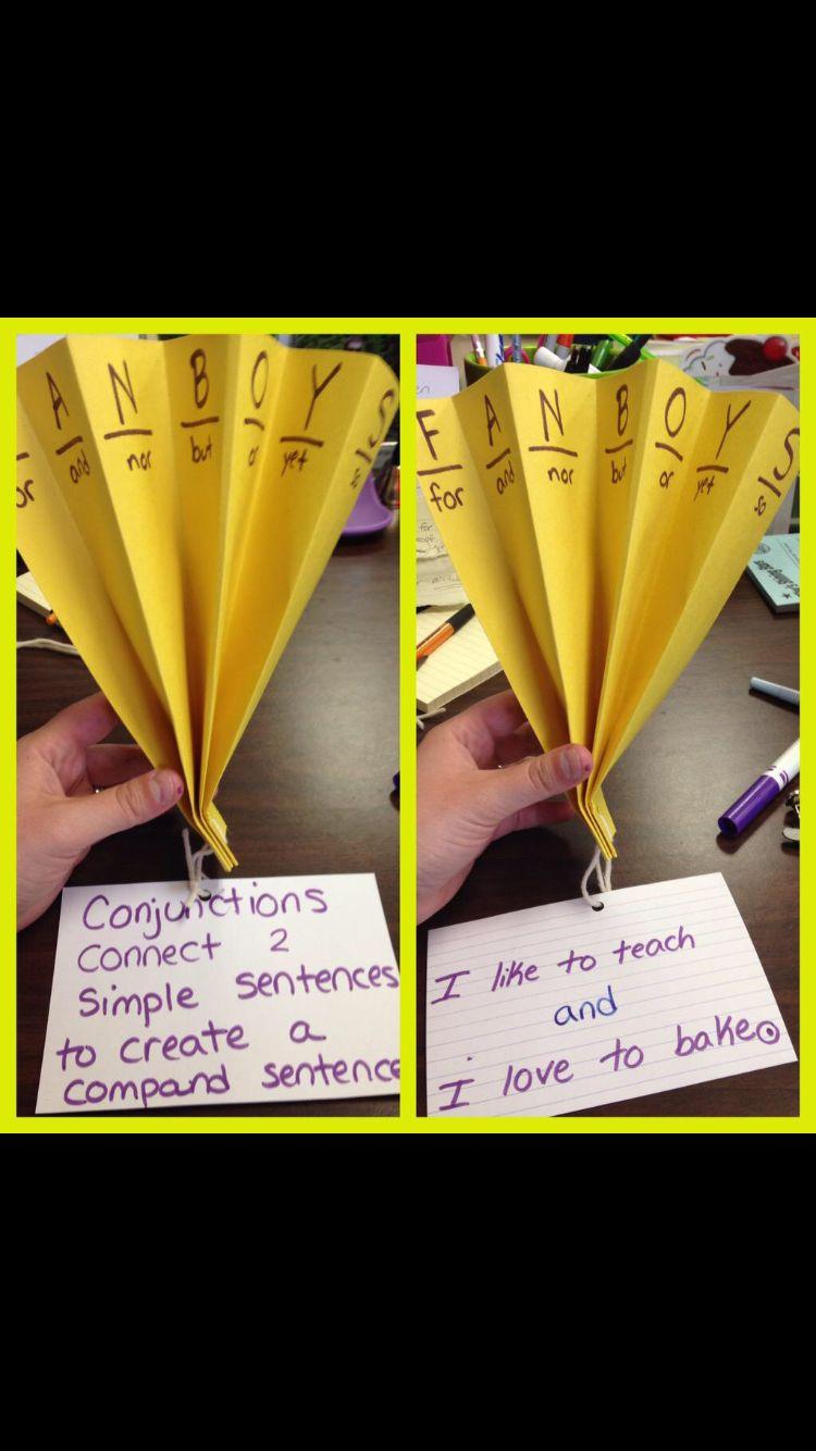 FANBOYS hook Simple sentences, Sentences, Teaching