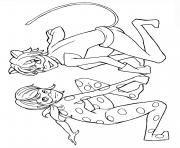 Print Miraculous Ladybug And Cat Noir Kiss Season 1 Coloring Pages