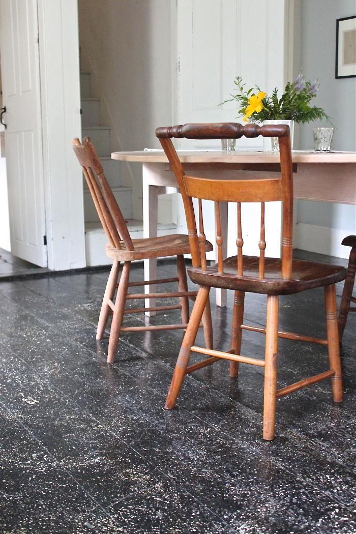 DIY New England Splattered Paint Floors: Remodelista