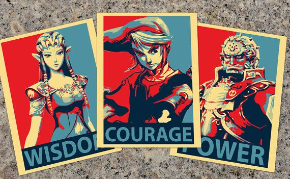 Obama Hope inspired Zelda Prints