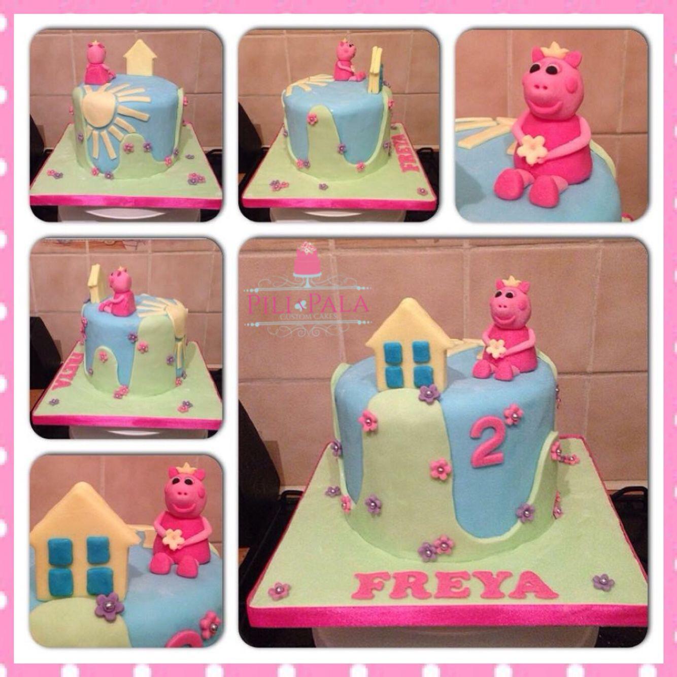 Girly peppa pig birthday cake peppa pig birthday cake