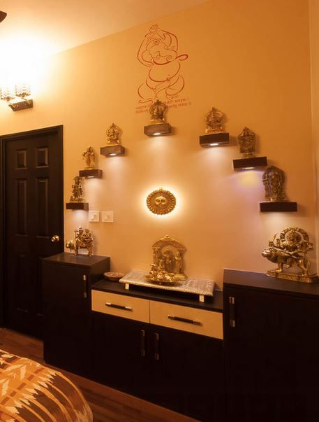 Pooja Room Color Ideas | Pooja room/ home Mandir/temple design ideas ...
