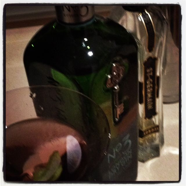 No.3 London Dry Gin with St Germain and lime zest
