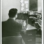 Teacher and student at the Tennessee School for the Deaf (February 26, 1962).