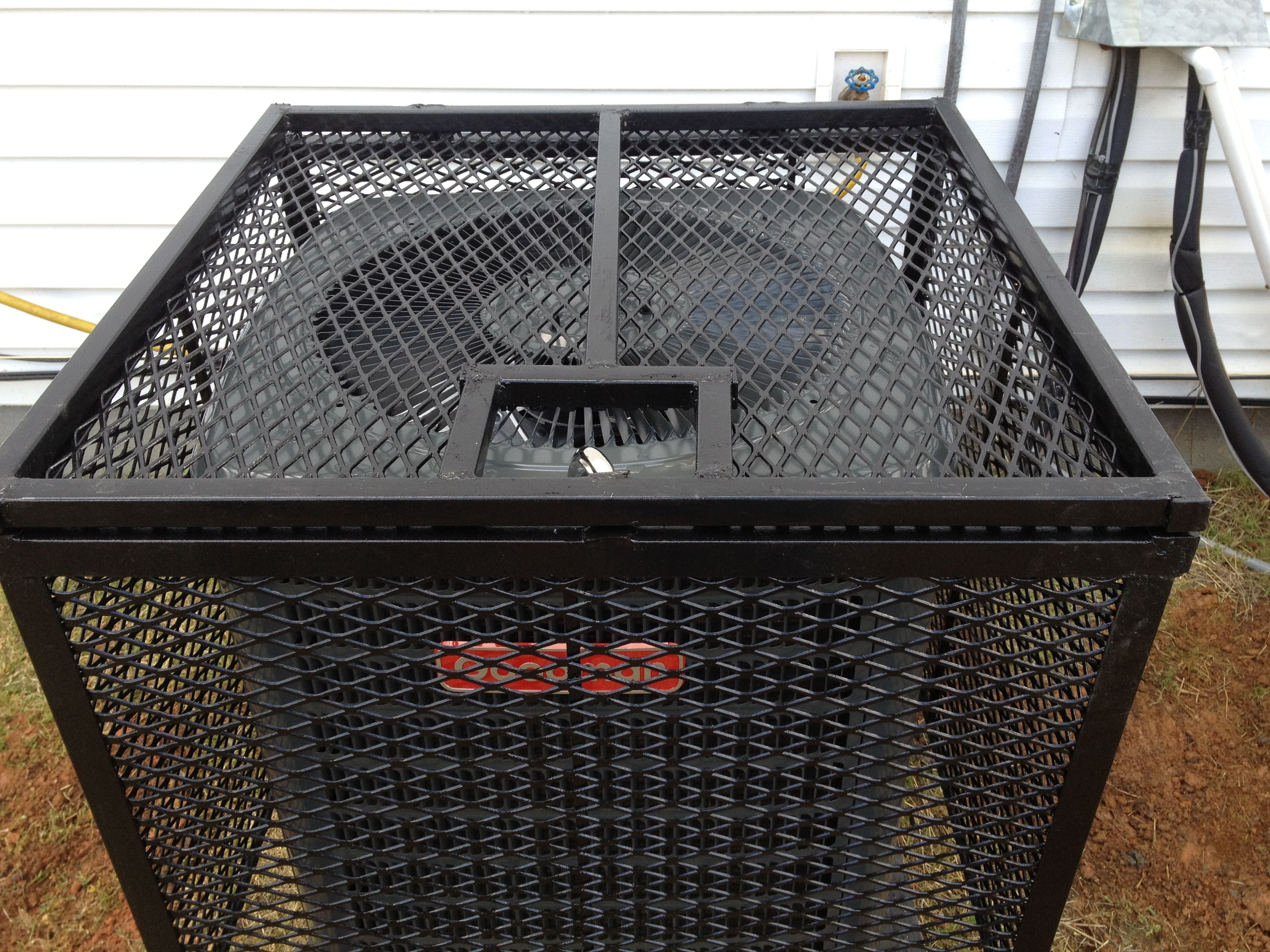 Expanded Metal Security Screen Around An Ac Unit Expanded Metal Security Screen Weld Idea