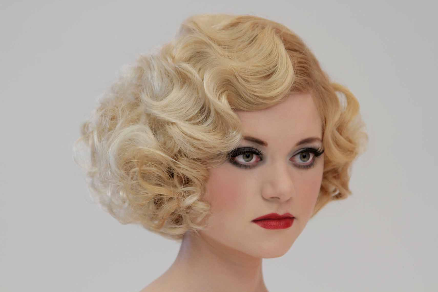 13+ exalted women hairstyles red ideas | finger wave styles