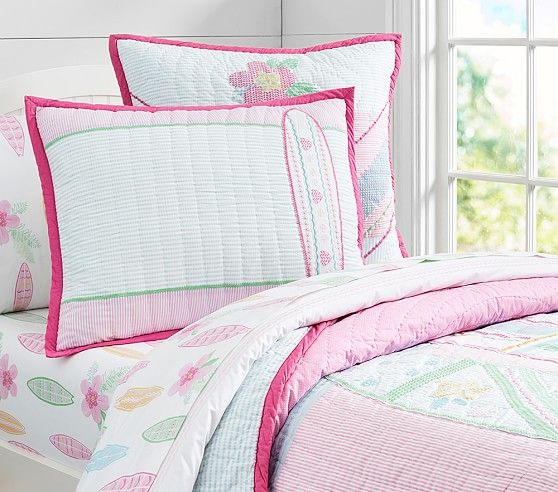 Pacific Surf Quilted Bedding | Pottery Barn Kids | For the Home ... : surf quilt cover - Adamdwight.com