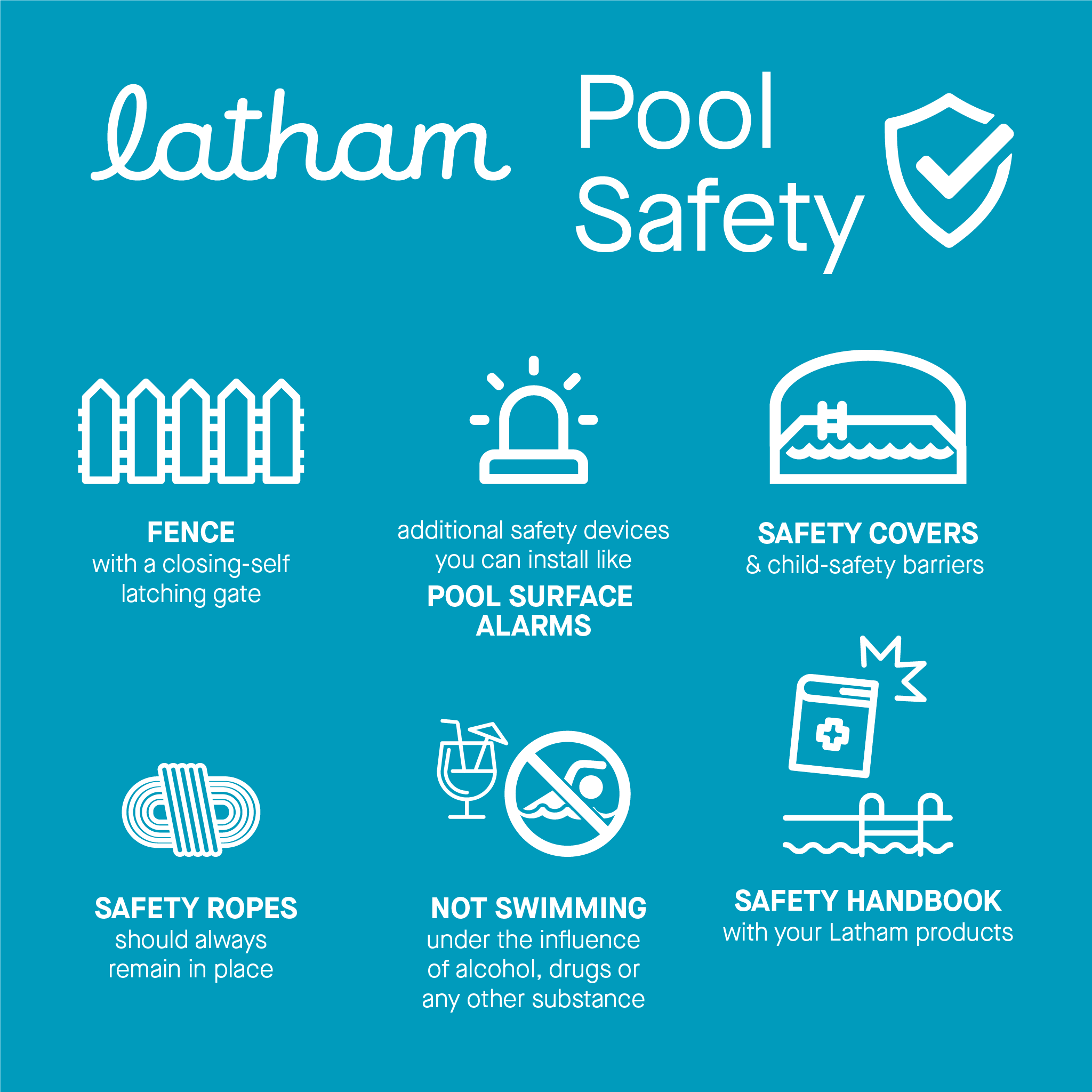 Pool Safety Tips in 2020 Pool safety, Latham pool
