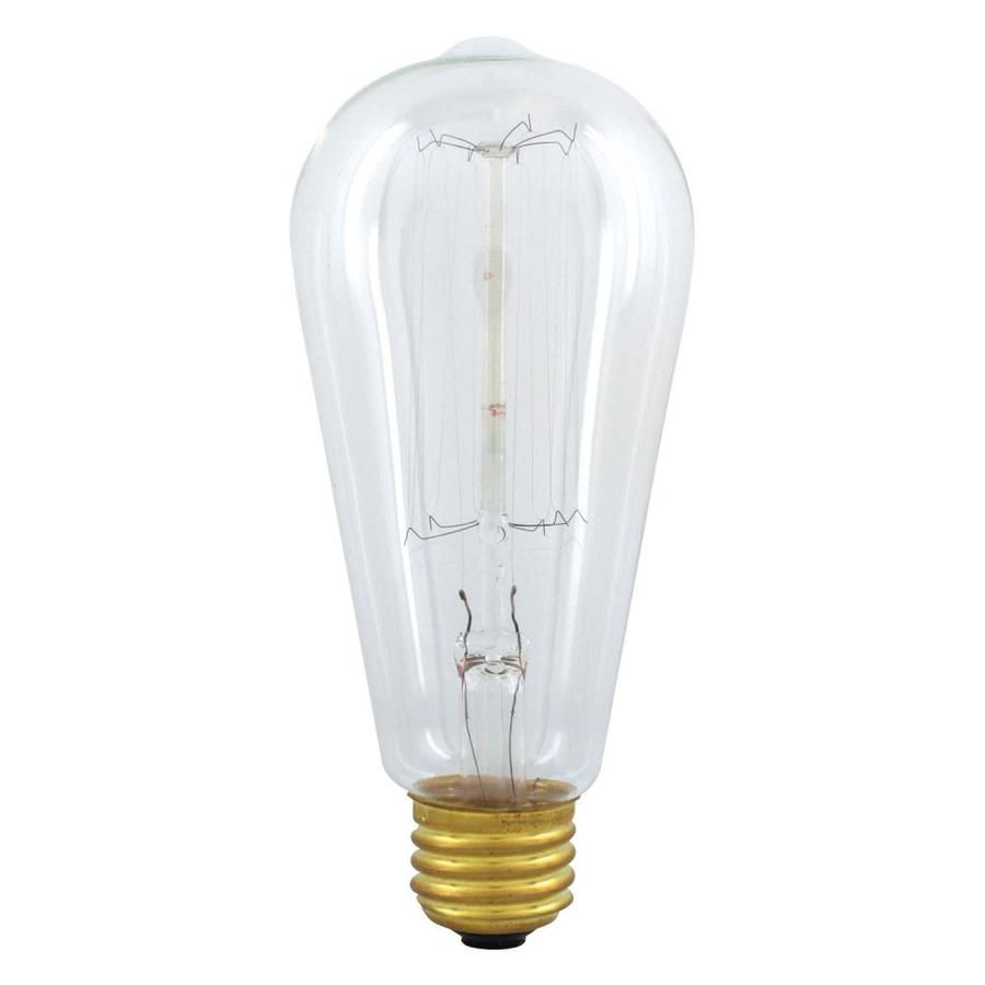Ge Vintage 60 Watt Dimmable Soft White St19 Vintage Incandescent