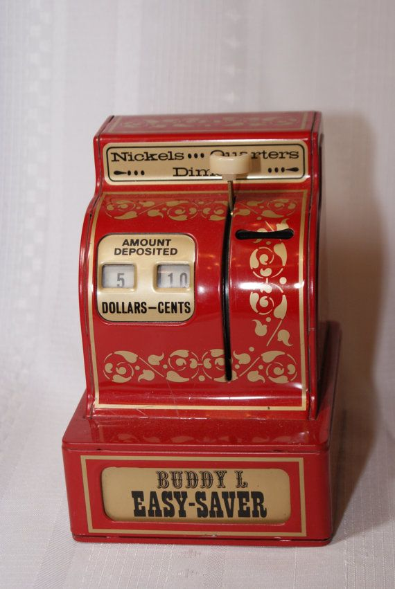 Reserved Toy Cash Register Kids And Baby Vintage Red Bank Buddy