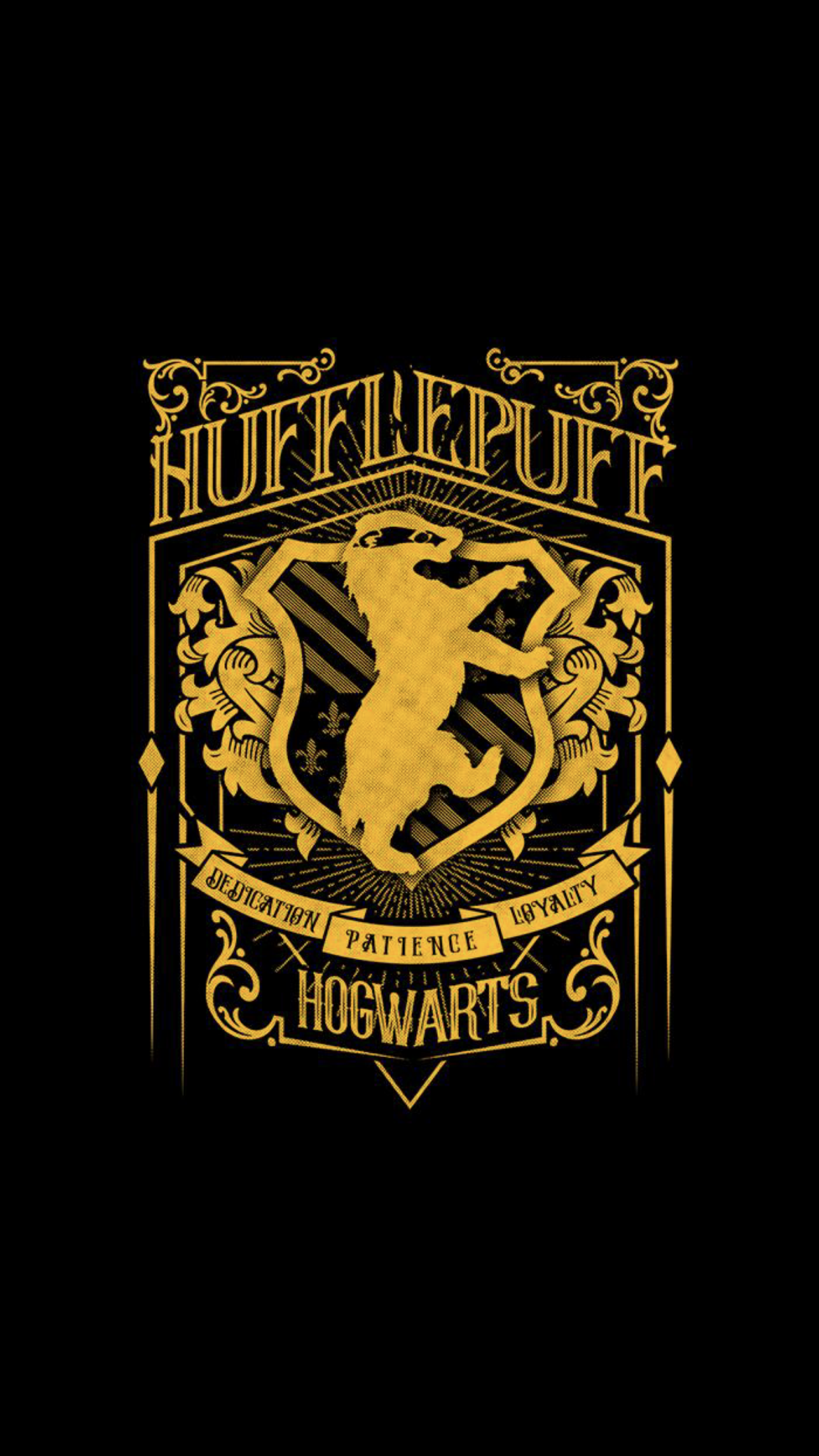 0b95f1bf035e Harry Potter Wallpaper · Modern looking Hufflepuff crest. This would be a  cool t-shirt design! Animaux