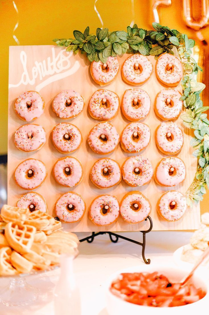 How To Make A Donut Board Bridal Shower Ideas Wedding Shower Ideas Party Ideas Brunch Bridal Shower Food Brunch Wedding Shower Brunch Bridal Shower Brunch
