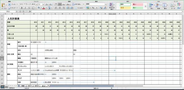 人生計画表を作ろう エクセル1シートでできる私の計画表と運用方法を