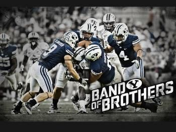 Band Of Brothers Defense Byu Football Byu Sports Sports Camp