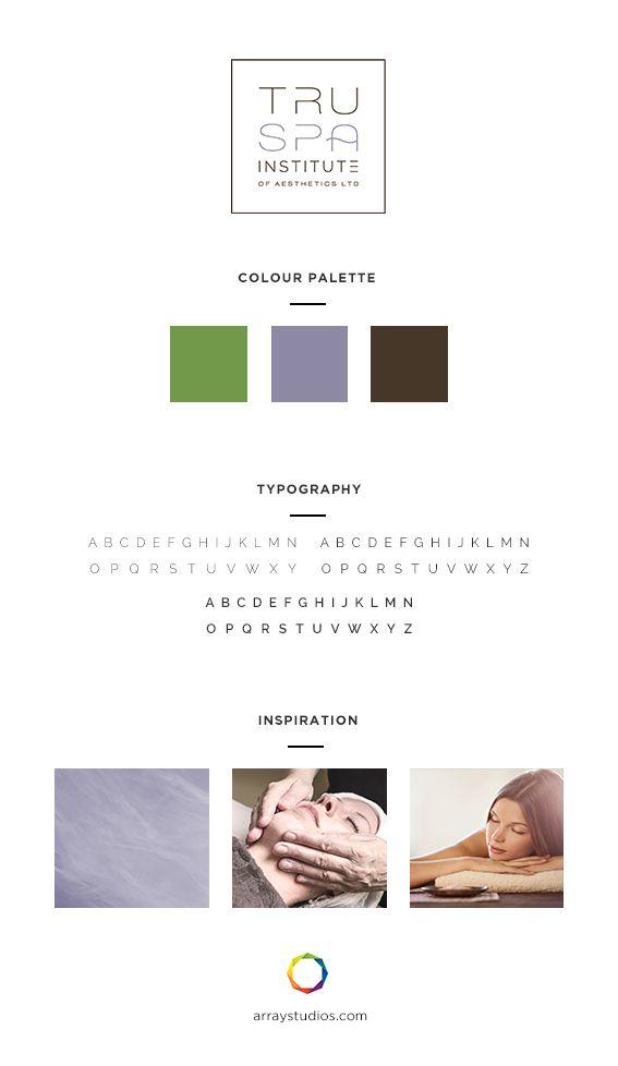 Branding Tru Spa Institute Array Web Creative Nanaimo Bc Branding Design Creative Agency In Brand Inspiration Board Custom Website Design Branding