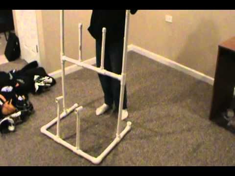 Pvc Drying Racks For Scuba Gear And Drysuit Youtube Hockey Gear Drying Rack Hockey Gear Hockey Gear Rack