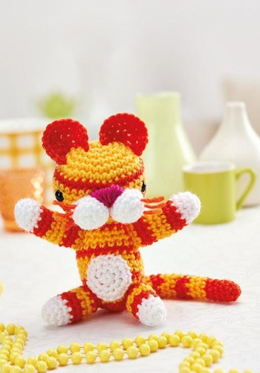 Free Crochet Pattern Amigurumi Tiger Toy Crochet Pinterest