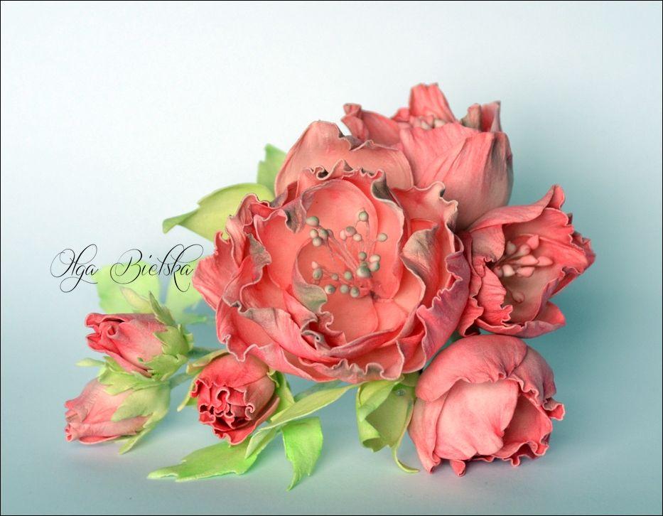 Kwiaty Z Foamiranu Dt Craft Passion Flores Sobres De Papel Flores De Papel