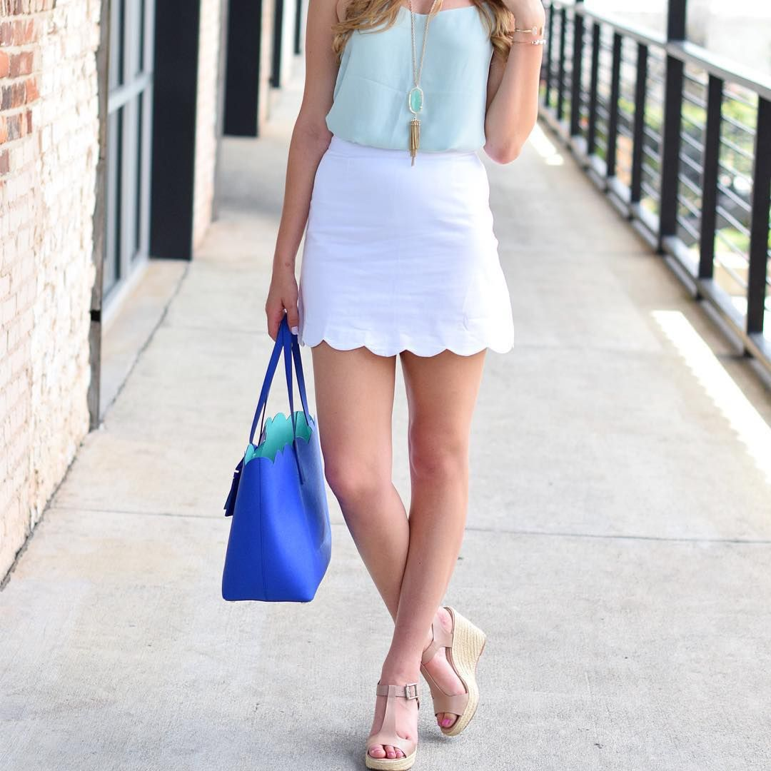 Scallops on scallops for a weekend #brunch look; today on the blog! www.darlingdownsouth.com #ootd  @liketoknow.it www.liketk.it/1BneQ #liketkit