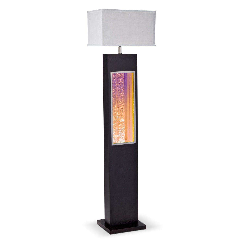 Black Glitter Floor Lamp   Value City Furniture