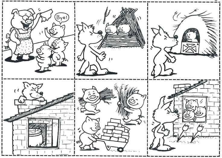 The Three Little Pigs Story Printable Three Little Pig