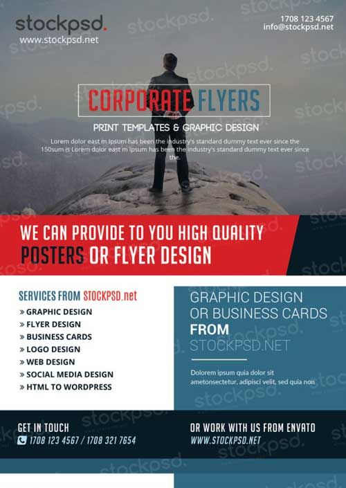 Download Corporate Business Free Psd Flyer Template  Free Flyer