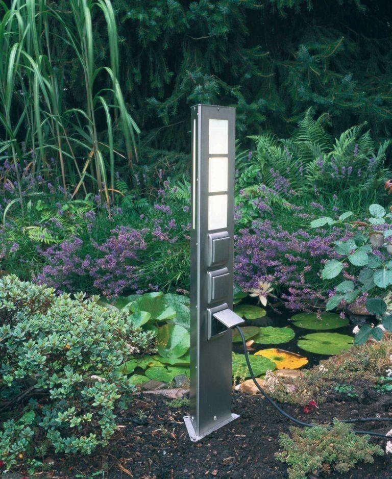 Artikel Nr 2209 Artikeltyp Steckdosensaule 2 Fach Glas Plexiglas Weiss Material Edelstahl Schutzklasse Gartenbeleuchtung Gartensteckdose Aussensteckdose