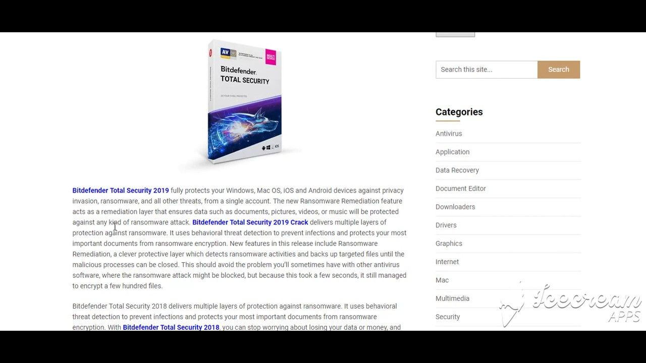 Bitdefender Total Security 2019 Crack + Keygen Free Download | IObit