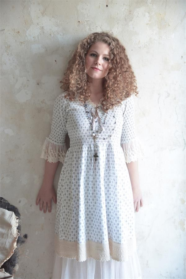 Jeanne d´Arc Living Kleid creme mit Spitze | Modestil ...