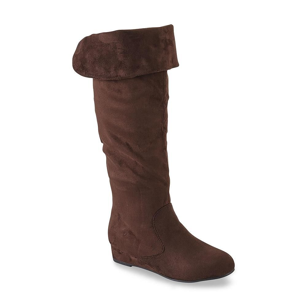 446a942afaeb kisses Women s Too Snoop Brown Convertible Cuff Tall Boot
