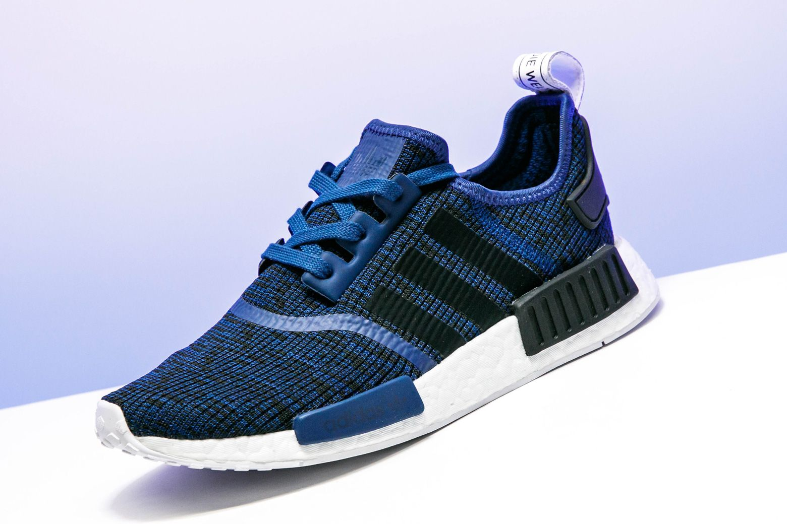 """e11b570cbff6a adidas keeps the heat coming with the stunning NMD R1 in """"Mystic Blue"""".   adidas"""