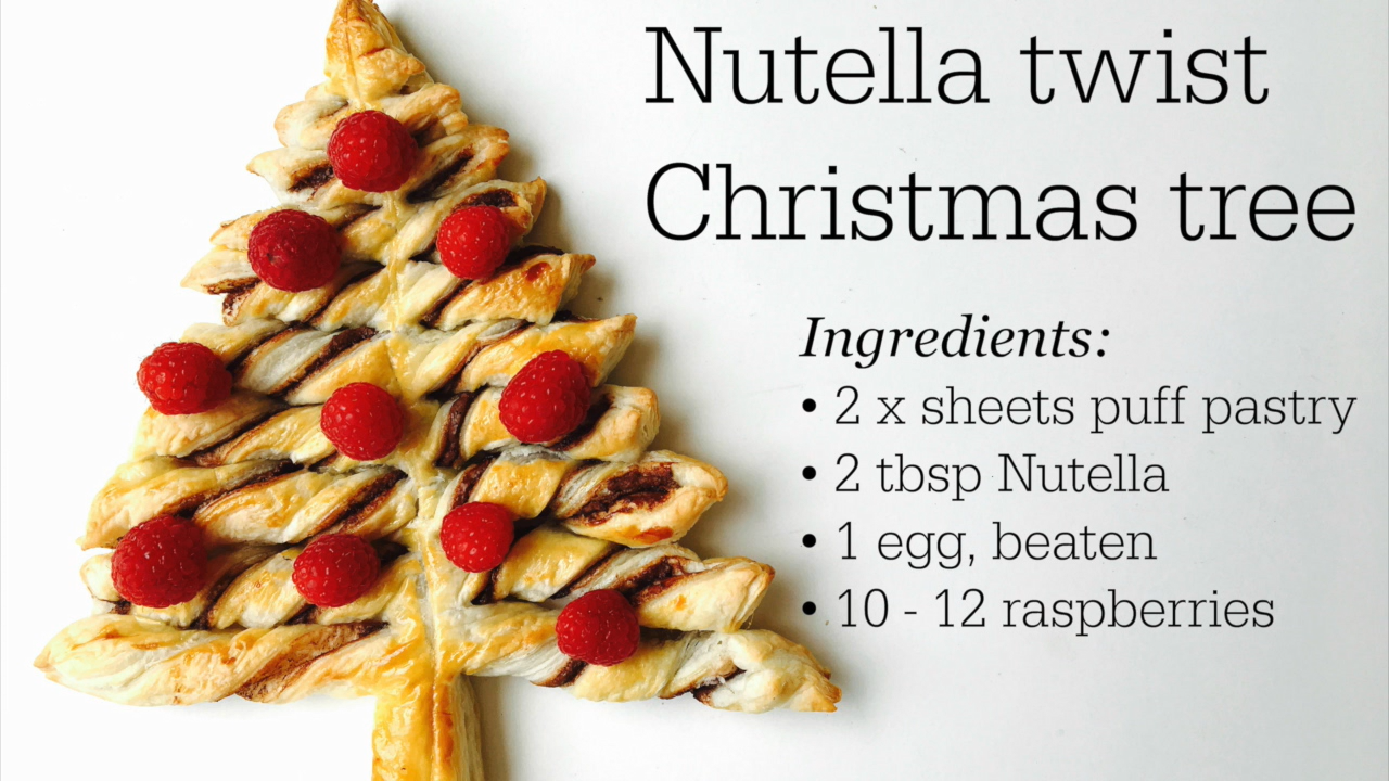 Nutella Christmas tree -   24 xmas food videos christmas dinners ideas