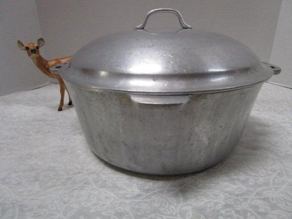 Large Vintage Dutch Oven Super Maid Cookware W Lid Clean Grandmas Kitchen Soup Pot Roast Cast Al Flat Top Stove Dutch Oven Vintage Kitchen