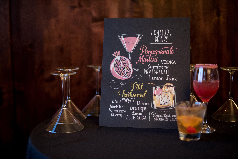 Personalized Pomegranate Martini Signature Cocktail