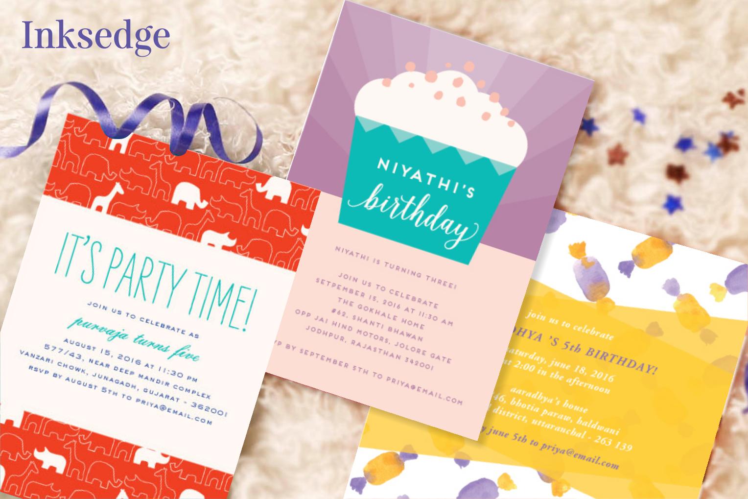 Kids birthday party, Birthday celebration, Babies Birthday invites ...