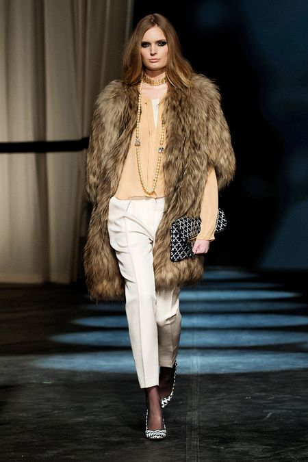Copenhagen Fashion Week - By Malene Birger - can never go wrong with furs