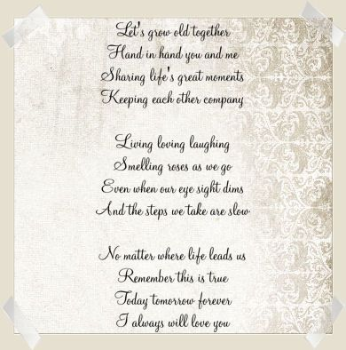 growing old poem