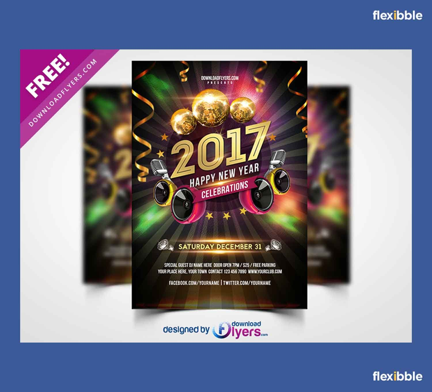 psd new year party flyer template flyer templates psd new year 2017 party flyer template