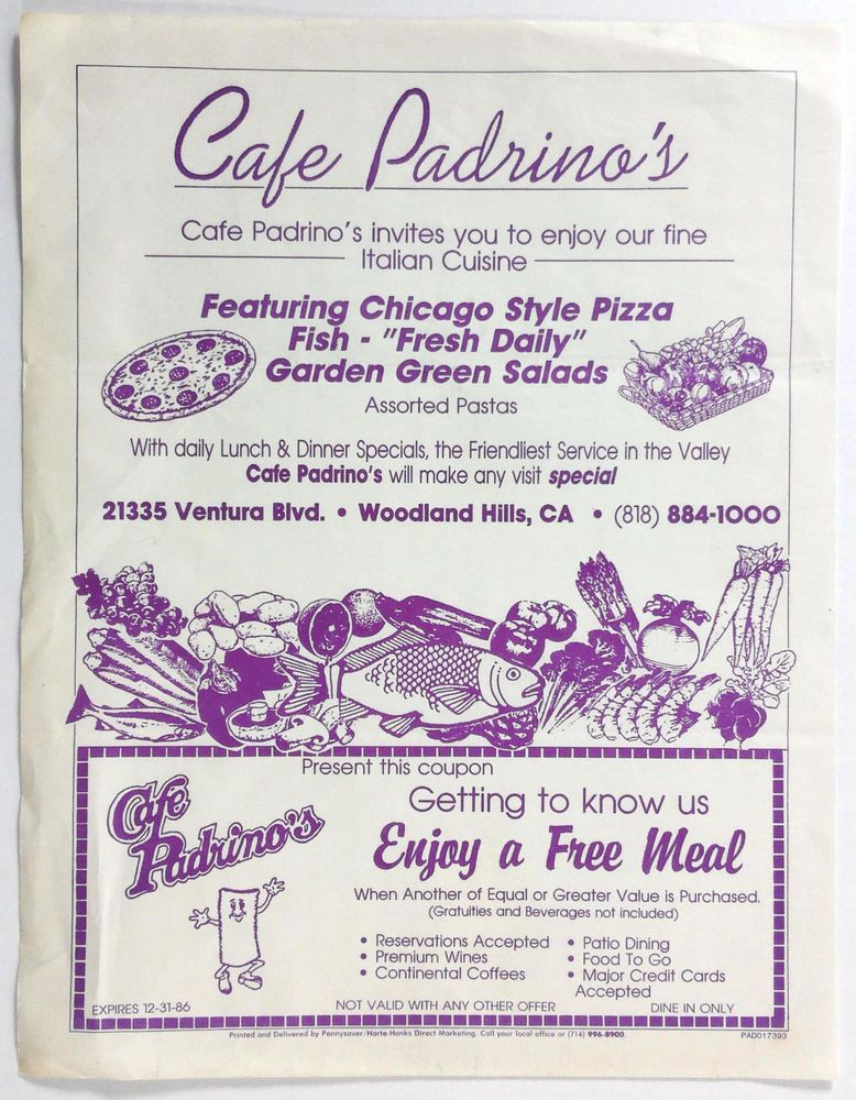 restaurant coupons woodland hills ca
