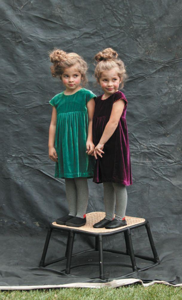 Velvet party dresses for Xmas Holiday 2015 at Margherita Italian kidswear