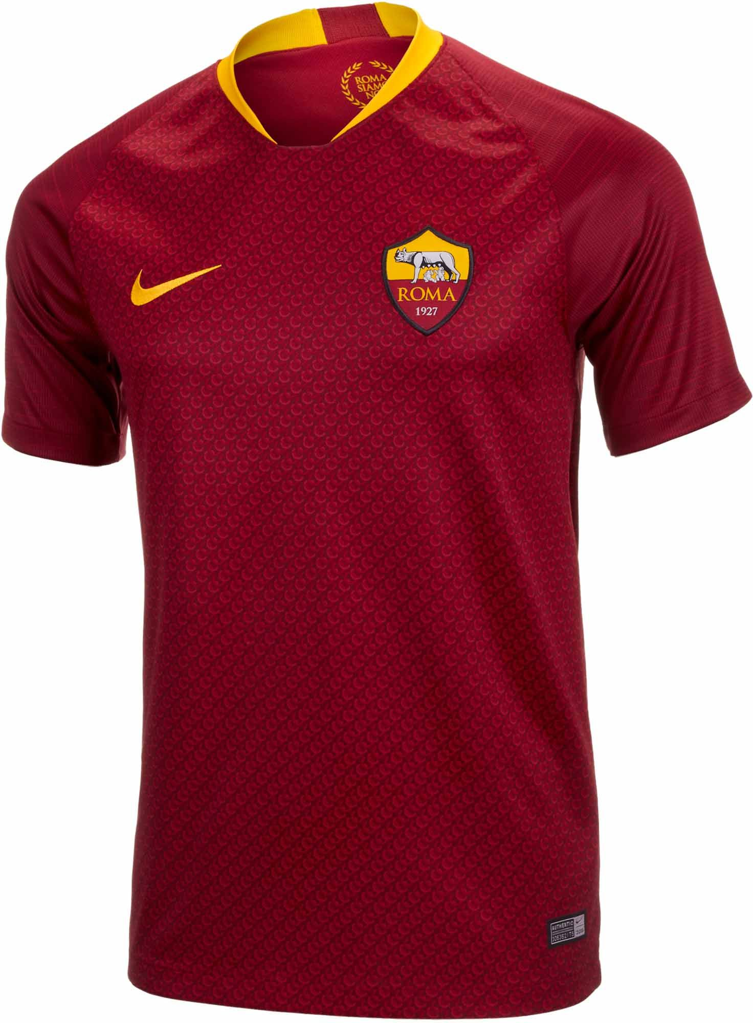 627cd642c The 2018 19 Nike AS Roma Home Jersey. Buy it from www.soccerpro.com