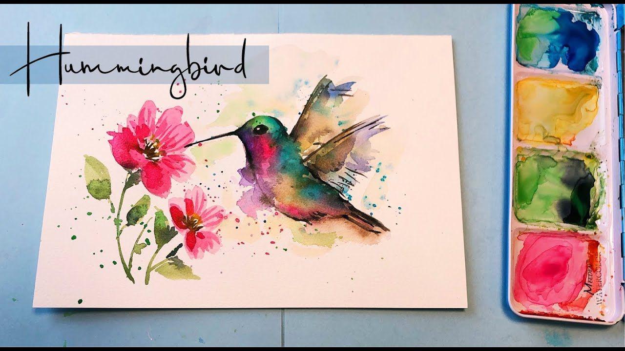 Hummingbird Painting/ Watercolor Wet on Wet Technique [Step by Step] Wat...  in 2020 | Hummingbird painting, Watercolor hummingbird, Watercolor birds  tutorial
