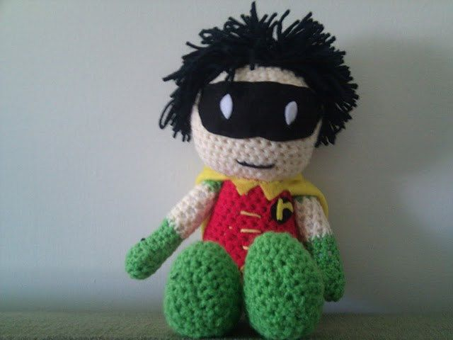 Crochet Tiny Titan inspired Robin Doll. $25.00, via Etsy.   Crochet ...